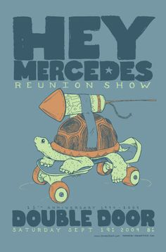 Love this Midwestlove poster for Hey Mercedes' reunion show!