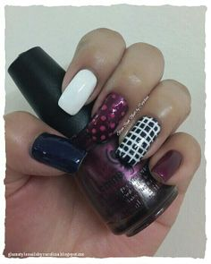 """BLUE & WINE STRIPES AND DOTS INSPIRED IN AN OUTFIT **FOR DETAILS FOLLOW MY BLOG OR DO """"LIKE"""" TO MY FACEBOOK, would be great!! All comments are welcome!!! https://www.facebook.com/glamstylenailsbycarolina **"""