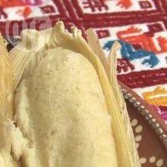 Tamales de almendra y crema pastelera @ allrecipes.com.mx