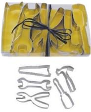 Tool cookie cutters. Make some fine cookie party favors for a construction themed birthday party.