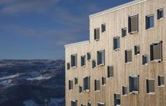 In February Lillehammer hosted the Winter Youth Olympic Games. Distributed across four blocks, the 360 apartments of Lillehammer University College's SOPP student development hosted more than athletes. Youth Olympic Games, Lillehammer, University College, February 2016, Cladding, Athletes, Apartments, Sustainability, Skyscraper