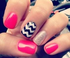 Love it. Could easily get this look with wraps. Or do a clear and white chevron over pink. Ideas!