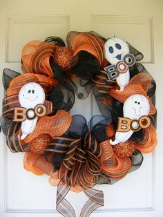 halloween mesh wreaths   Halloween Mesh Wreath