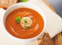 Roasted Red Pepper, Sweet Potato & Mushroom Soup (dairy-free, gluten-free) | Liezl Jayne