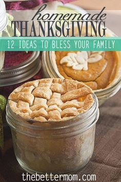 Twelve fun ideas for a handmade Thanksgiving in your home. Includes projects for the kids, decorating, and baking. Enjoy the smells and sights of the Thanksgiving season.