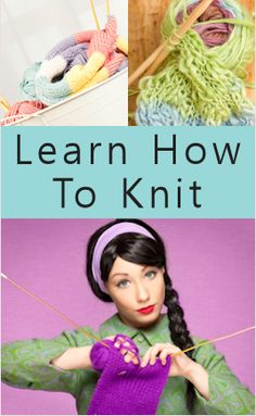 learn how to knit ~ a great refresher course or to teach others how to knit!