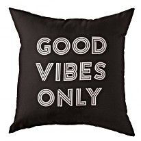 Good Vibes Only Decorative Pillow