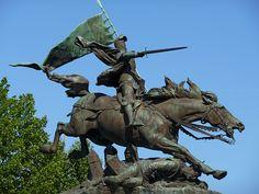 statue équestre de la Pucelle , Chinon , Indre et Loire.