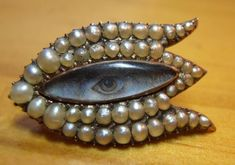 From the same dealer who has sold many others on this page. Funny how one person keeps finding eye miniatures, isn't it? Eye Jewelry, Pearl Jewelry, Jewelry Accessories, Jewelry Design, Jewellery, Victorian Jewelry, Antique Jewelry, Vintage Jewelry, Lovers Eyes