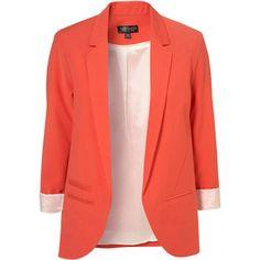 Tangerine Topshop blazer