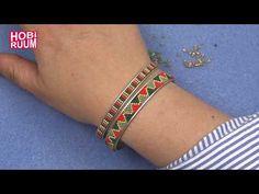 Video for instructions – Herringbone Technique (Tubular Herringbone Stitch) … Loom Beading, Beading Patterns, Custom Jewelry, Handmade Jewelry, Beaded Jewelry, Beaded Bracelets, Cute Necklace, Friendship Bracelets, Creations
