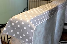 How to cover an ugly box spring in fabric! - The Creek Line House