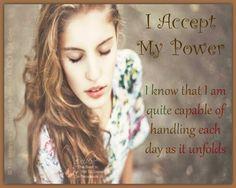 I accept my power