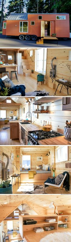 Container House - The Kootenay tiny house - Who Else Wants Simple Step-By-Step Plans To Design And Build A Container Home From Scratch? Tiny House Listings, Tiny House Plans, Tiny House On Wheels, Tiny House Movement, Tyni House, Architecture Design, Tiny House Storage, Deco Originale, Tiny Spaces