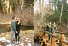 Camp Sherman Oregon engagement photos