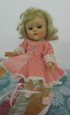 Vogue Painted Lash Blue Eyed Blonde Ginny Strung Doll Tagged Pink Ballerina 179 | eBay