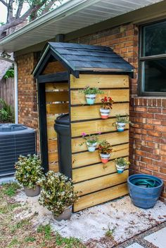 Home Project // DIY Trash Can Shed for Curb Appeal - Within the Grove - Can we go bigger for a small shed.