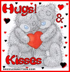 Tatty teddy hugs and kisses for you Hugs And Kisses Quotes, Hug Quotes, Hugs And Cuddles, Bear Hugs, Snoopy Quotes, Hug Pictures, Teddy Bear Pictures, Heart Pictures, Angel Pictures