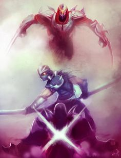 League of Legends Rivals: Shen vs Zed by ArtisticPhenom.deviantart.com on @deviantART
