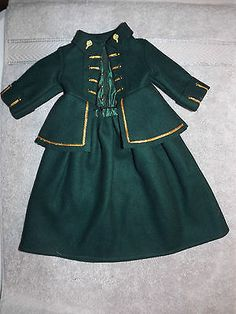 AMERICAN-GIRL-DOLL-FELICITYS-GREEN-RIDING-OUTFIT-EUC