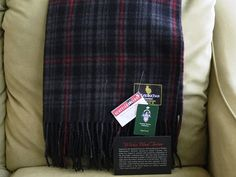 This cozy blanket was inspired by the Stratford Festival's 2016 production of William Shakespeare's Macbeth, directed by Antoni Cimolino. This distinctive tartan was created to coincide with worldwide celebrations of the playwright's enduring legacy, 400 years after his death in 1616. The play abounds in images of blood and the darkness of night; hence the tartan's striking use of red and black. The charcoal tone, equivocating between the polar opposites of black and white...