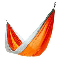 The Eagles Nest DoubleNest hammock, made from breathable, quick-drying nylon, sets up in two minutes flat.