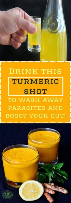 Drink this turmeric shot to wash away parasites and boost your gut!