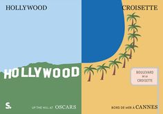 Minimalist Graphics Show Differences Between The Oscars & Cannes Film Festival - DesignTAXI.com