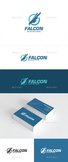 Falcon Logo — Photoshop PSD #wing #bird • Available here → https://graphicriver.net/item/falcon-logo/10703308?ref=pxcr
