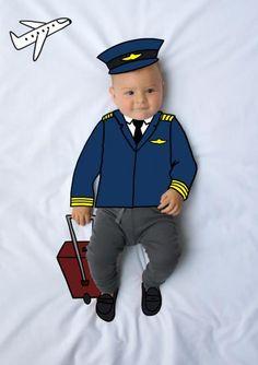 Ponchito, Piloto, de mayor quiero ser, fotografía, infantil, bebé, creativa, ilustración, baby, photography, kid, illustration, photography, creative