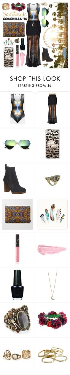 """Festival Style"" by levon-3redthreads on Polyvore featuring Casetify, Office, NARS Cosmetics, By Terry, OPI, Aéropostale, Rock 'N Rose and Kendra Scott"
