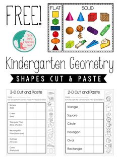 Kindergarten Geometry: 2D and 3D Shapes - Liz's Early Learning Spot