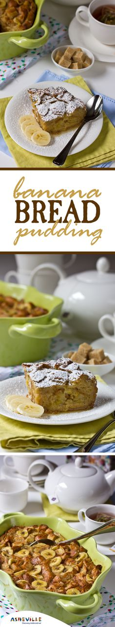 Banana Bread Pudding Recipe. Bake this sweet breakfast for your guests using leftover croissants.