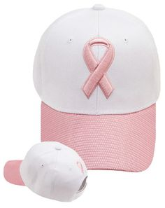 Pink Ribbon Hat Breast Cancer Awareness Womens Baseball Cap 9f317c5a349d