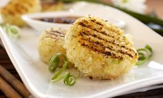 Grilled Gluten Free Rice Cakes with Shrimp Gluten Free #GlutenFree