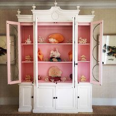 In love with this fabulous #pink and white #islandchic armoire! #Regram from Celine @alotmorestyle... I am also obsessed with her glamorous custom handmade kaftans for sale!  #Bahamas #islandstyle #islandliving #palmbeachstyle