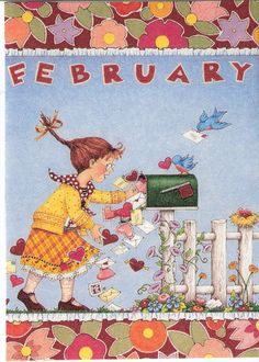 February Valentine's Day Cards Mailbox Letters Mary Engelbreit Art