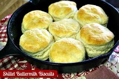 Mommy's Kitchen - Home Cooking & Family Friendly Recipes: Skillet Buttermilk Biscuits & {How to Season & Care for Cast Iron Cookware}