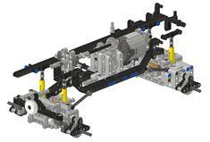 Train Lego, Lego Trains, Lego Cars, Technique Lego, Lego Machines, Lego Moc, Lego Lego, Amazing Lego Creations, Cool Lego