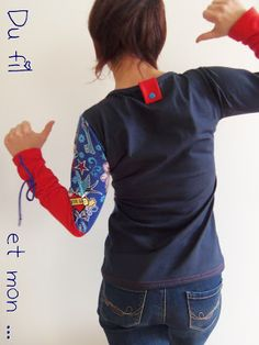 haut polo Article Physique: As we speak trend repr T Shirt Remake, T Shirt Time, Pretty Shirts, Shirt Refashion, Altering Clothes, Easy Sewing Projects, Pullover, Rockabilly Men, Clothing Patterns