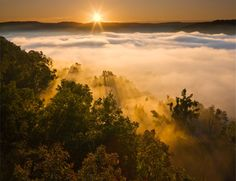 Sunrise over Boxley Valley from Hedges Pouroff, Upper Buffalo Wilderness Area, Buffalo National River