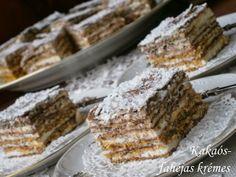 Hankka: Kakaós-fahéjas krémes No Bake Desserts, Dessert Recipes, Hungarian Recipes, Hungarian Food, Cake Bars, Little Kitchen, Winter Food, My Recipes, Nutella