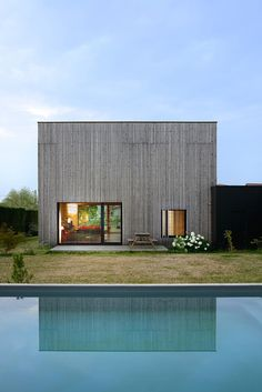 Lyon architects Tectoniques introduced a range of measures to maximise the environmental and thermal performance of the house – called Villa B,  b for bioclimatic