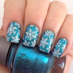 Winstonia Nail Art Stamping Image Plate - Have a Merry X'mas!