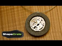 ▶ ShapeCrete is a pourable, shapable, pushable, moldable concrete: Fu-Tung Cheng shows how to make this pendant - YouTube