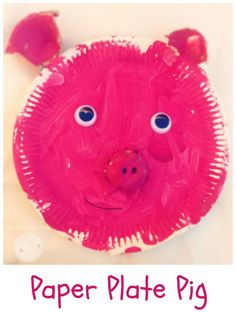 Paper plate pig craft easy animal craft idea for toddlers and preschoolers. Fun to make with kids this simple farm animal pig.
