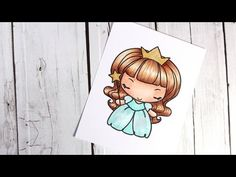 Color Wednesday #7 - The Greeting Farm Princess Anya & Copic Markers Excellent Copic Video