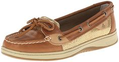 awesome Sperry Top-Sider Women's Angelfish Boat Shoe, Linen/Gold, 9 M US