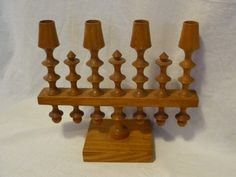 "#4670/1-Russian hand carved wooden candelabra-size 12.00"" x 10.00"" - - http://get.sm/pYjI18X #tradebank General Merchandise,Hamilton ON"