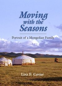 "This intimate look at rural Mongolian life was a collaborative effort between author and photographer Liza Carter and a nomadic Mongolian family living on the steppe. Through spring, summer, winter and fall, Carter's personable prose and excellent photography capture the people's daily lives, in many ways still untouched by modernity. Interesting sections include the building of the traditional hut (or ""ger""), the milking of horses, polo and wrestling matches and the national Nadaam…"